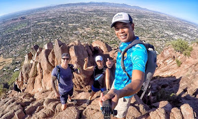 Hiking Camelback Mountain, Echo Canyon Trail, Cholla Trail Camelback, Hiking Phoenix Arizona
