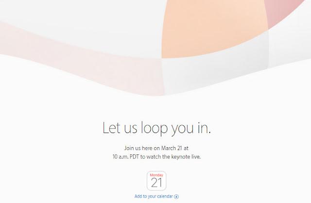 Apple resmi sebar undangan perilisan perangkat baru tangga 21 Maret 2016