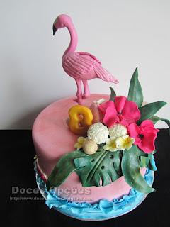 Bolo de aniversário Flamingo bragança
