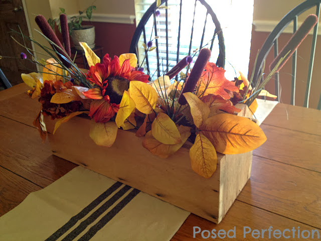 Using a Rustic Toolbox for a Fall Centerpiece