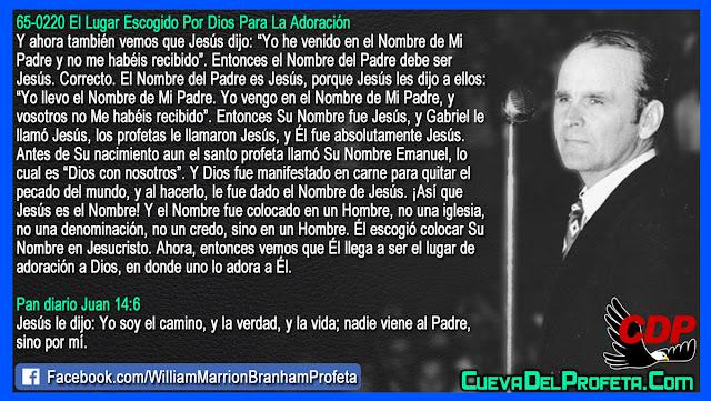 El Nombre del Padre es Jesús - Citas William Branham Mensajes