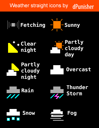 Straight weather icons by dP-watchfaces