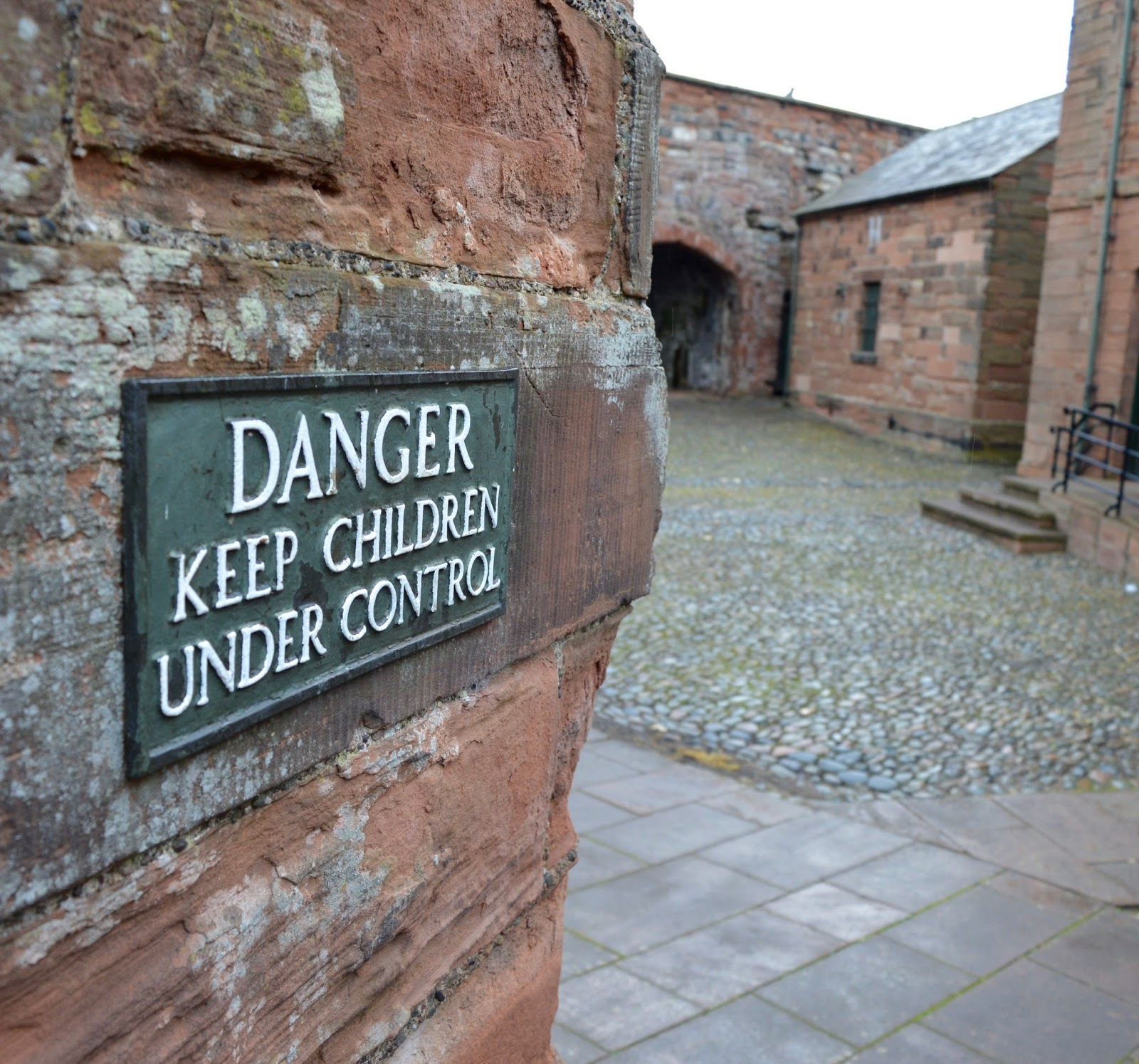 Great Days Out with Northern  | Our Day Trip to Carlisle by Train - Carlisle Castle Wall Walk Sign