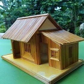 Nhà tăm tre-Nhà quê-Quà tặng handmade độc đáo
