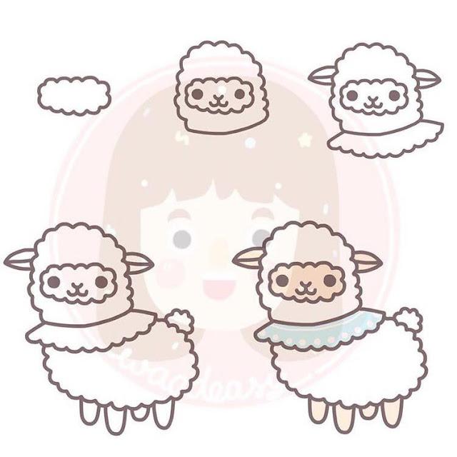 Cara menggambar domba untuk anak-anak