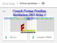 Contoh Format Penilian Kurikulum 2013 Kelas 1 2017