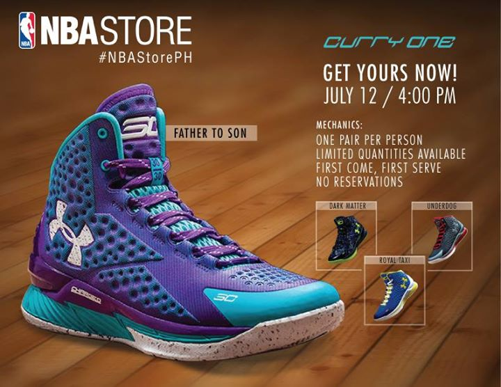 cadd3a9ca7ec UA Curry One Available at NBA Store PH
