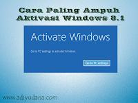 Cara Ampuh Aktivasi Windows 8.1 All Edition Secara Permanen