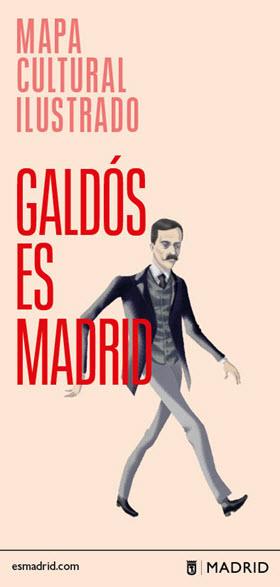 Mapa y guía ilustrada 'Galdós es Madrid'
