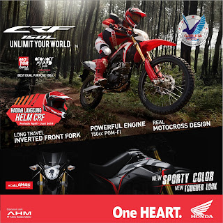 gratis helm exclusive crf150l