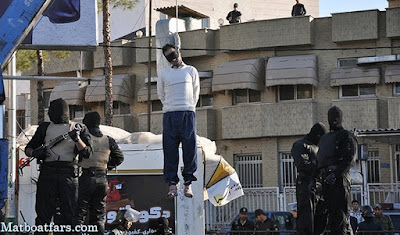 Public hanging of Hamid B. in Shiraz on May 26, 2016