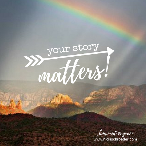 God is writing your story. It's up to you to share it with others. Your voice matters!