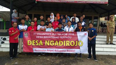 Hari Pertama IT Volunteer BLC Telkom Di Desa Ngadirojo