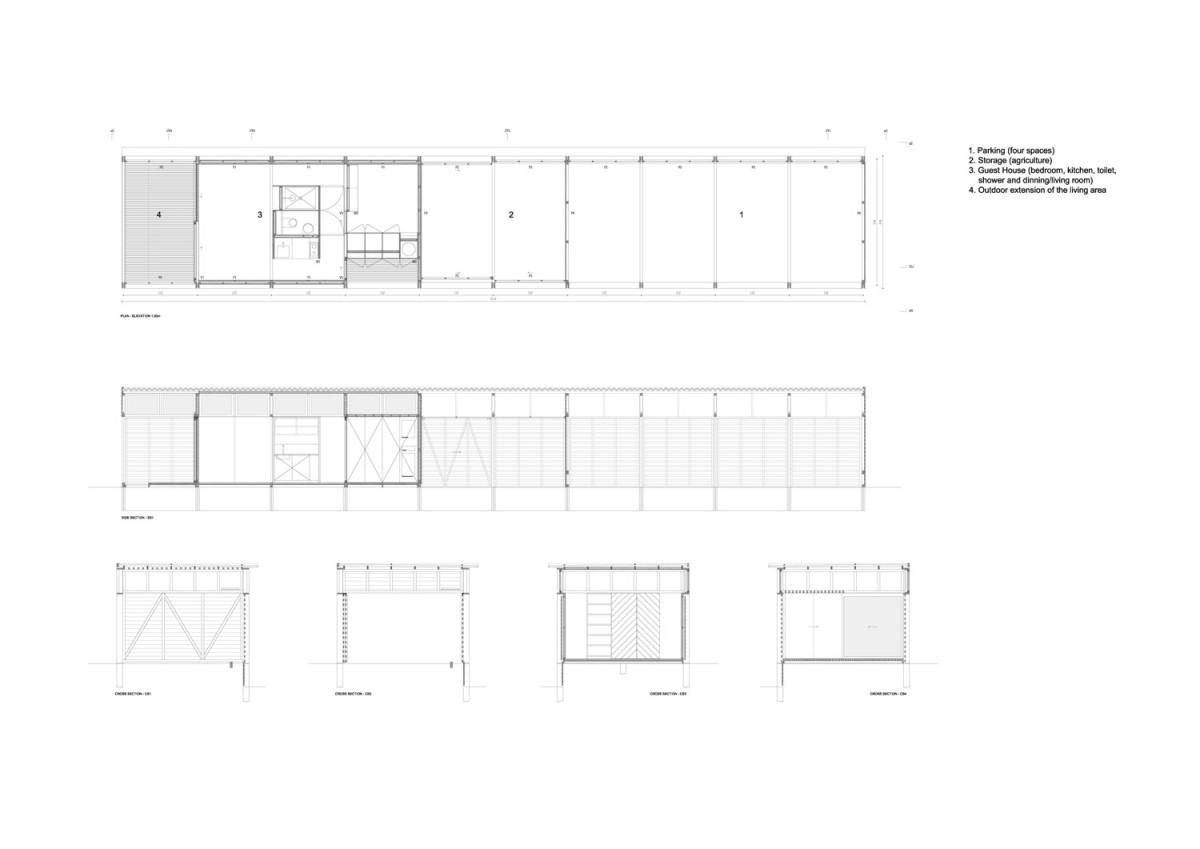 Casa de invitados de paratelier arquitectura y dise o - Arquitectura y diseno de casas ...
