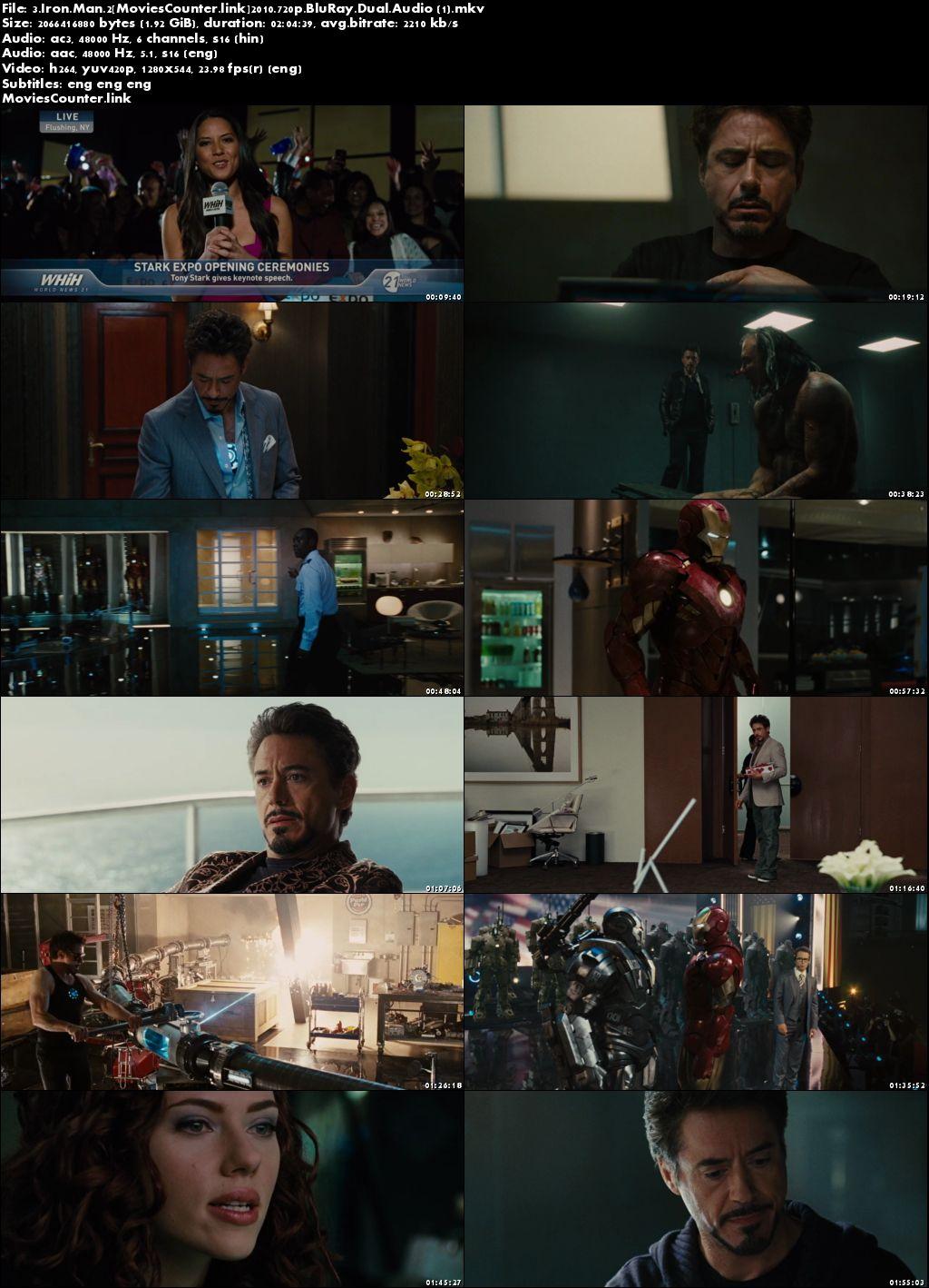 Screen Shot Iron Man 2 2010 Dual Audio HD 720p