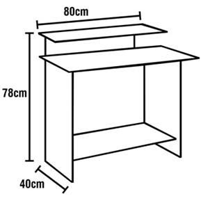 01 (huma)  mesa para computador - muito prática e eficiência...dimensões - ergonometria
