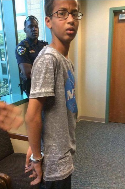 President Barack Obama  Ahmed Mohamed the Muslim schoolboy who was arrested for bringing a homemade clock to school.