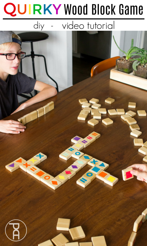 How to make a simple Quirky wood block game using scrap wood and a POTATO