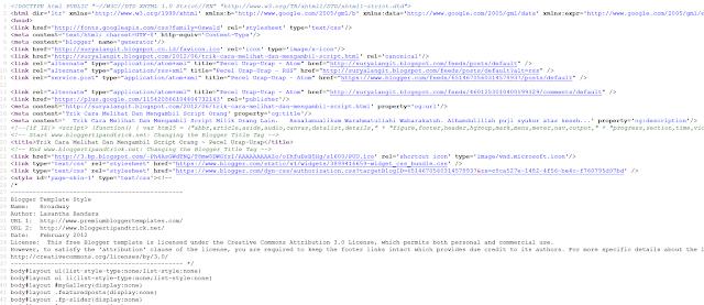 Cara Mudah Melihat Script Website Milik Orang Lain