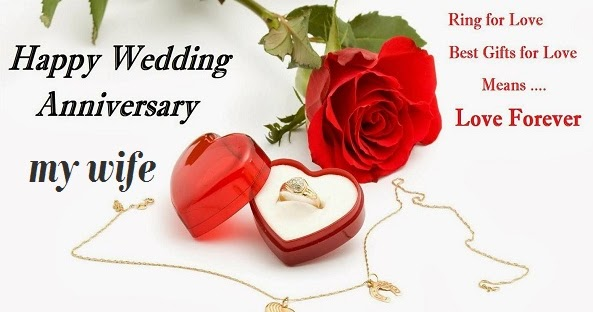 Happy wedding anniversary romantic love messages for wife
