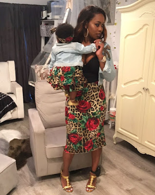 Photos RemyMa and her daughter Reminisce in matching outfits