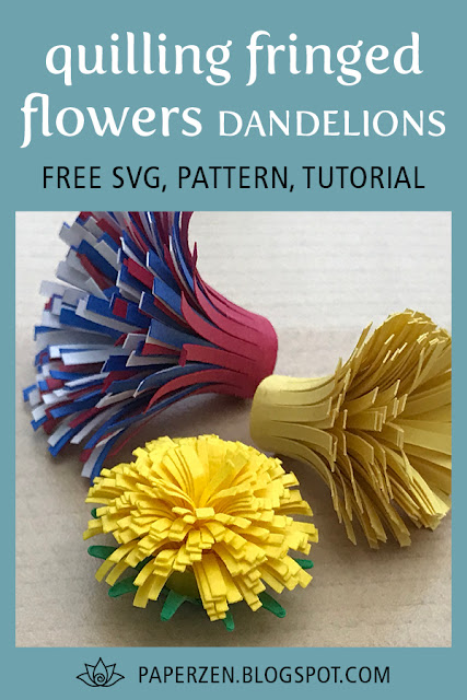 Quilling Fringed Flowers Dandelions