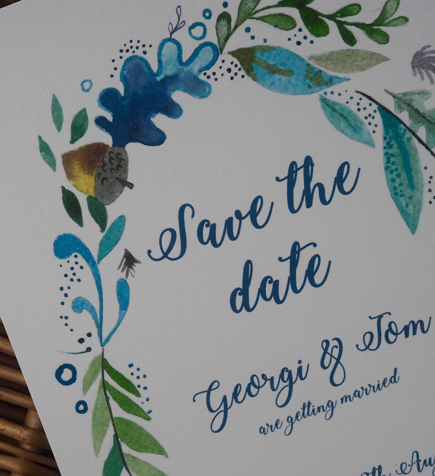 Save some of the wedding budget by designing your own save the date stationery.