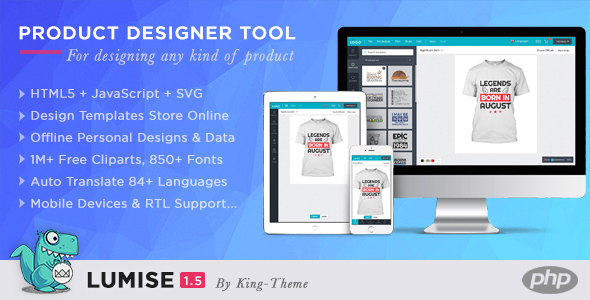 Lumise Product Designer Tool v1.6 - PHP Version