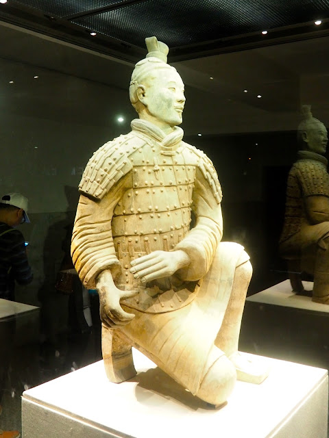 Kneeling soldier from the Terracotta Army, Xian, China