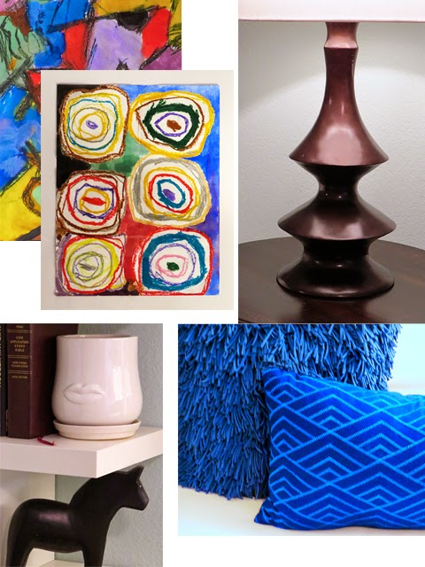 Lamps,modern art,decorative pillows, interior design