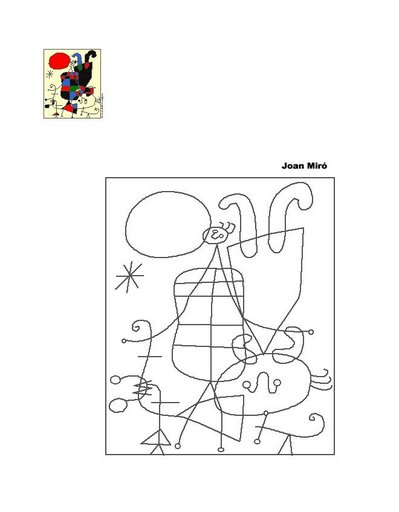 Miró, Joan para imprimir e colorir