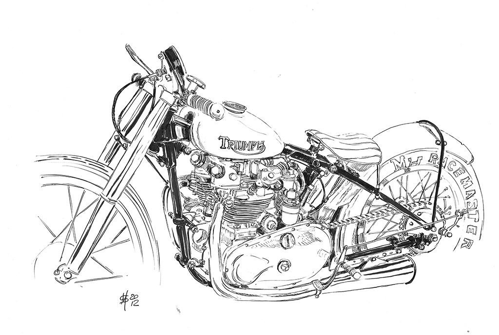 Martin Squires Automotive Illustration: Motorcycle Live