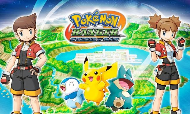 Nuevos juegos de Pokémon Ranger para la Consola Virtual de WiiU