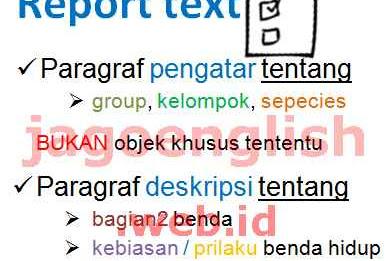 Contoh Soal Report Text Pilihan Ganda