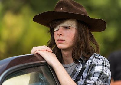 Carl Grimes (Chandler Riggs) e la sua ultima macchina