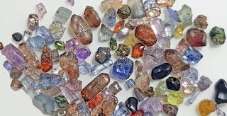 Ruby, sapphire, spinello and zircon found in Gouise river alluvials, Chomélix, Craponne-sur-Arzon, Haute-Loire, Auvergne-Rhône-Alpes, France
