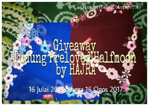 Giveaway Tudung Preloved Halfmoon by Hajra ciklapunyabelog.blogspot.my