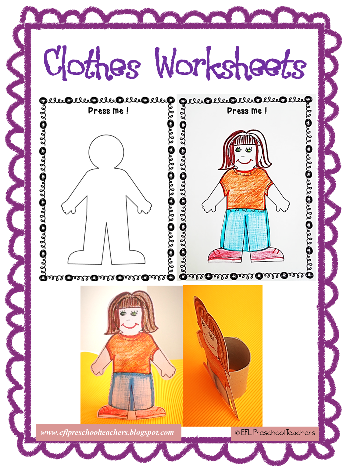 Esl Efl Preschool Teachers Clothes Worksheets And