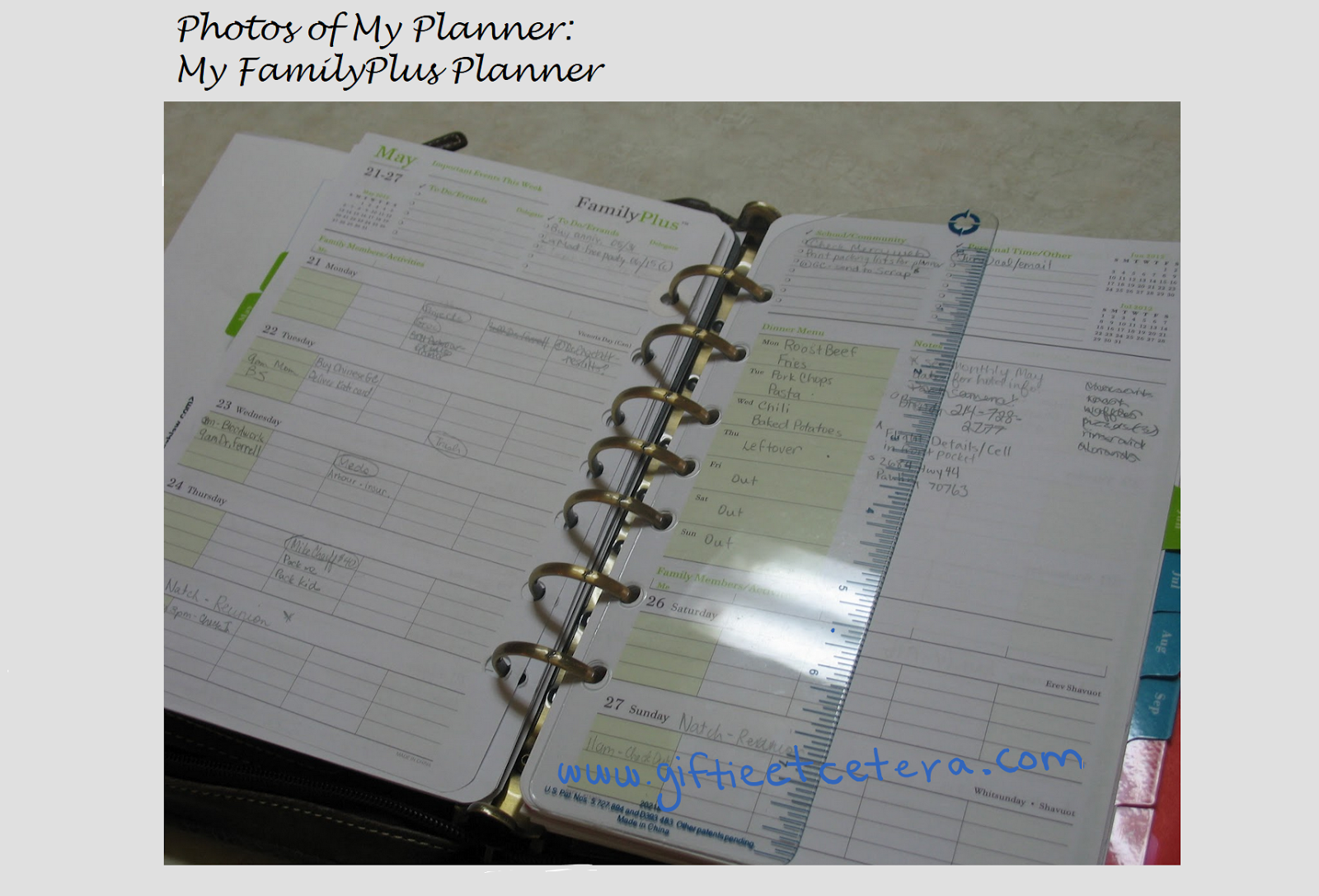 inserts, planner, day-timer, franklin covey, binder
