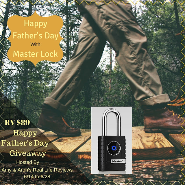 Blogger Opp Fathers Day Giveaway with Master Lock ARV $89 ( Amy & Aron's Real Life Reviews)