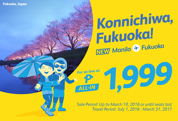 Cebu Pacific Promo Japan Flights 2016