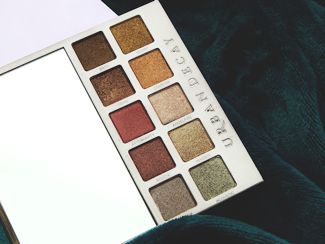 Urban Decay Heavy Metals Holiday Eyeshadow Palette First Impressions with Swatches Neutral Shades