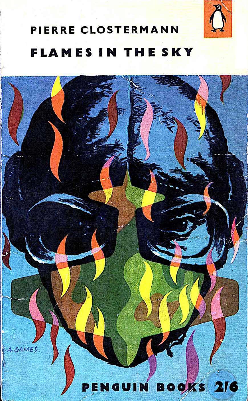 an Abram Games illustration, Penguin Books, Fire in the Sky