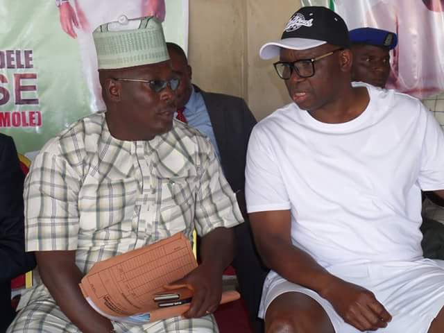 See what Fayose wore during a meeting with traders today