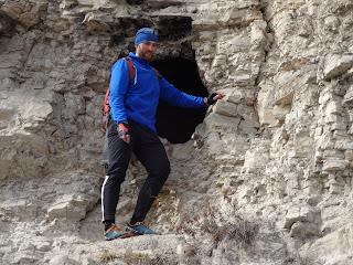 Илья Киселев на скале близ реки Белая