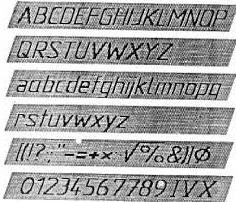 jenis huruf,angka, dan lambang menurut ISO
