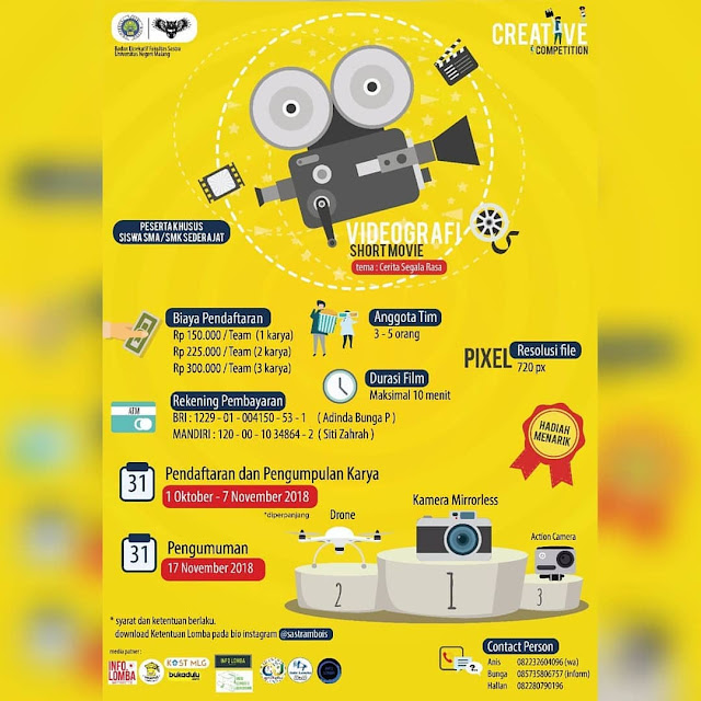 Lomba Short Movie Competition 2018 SMA Sederajat