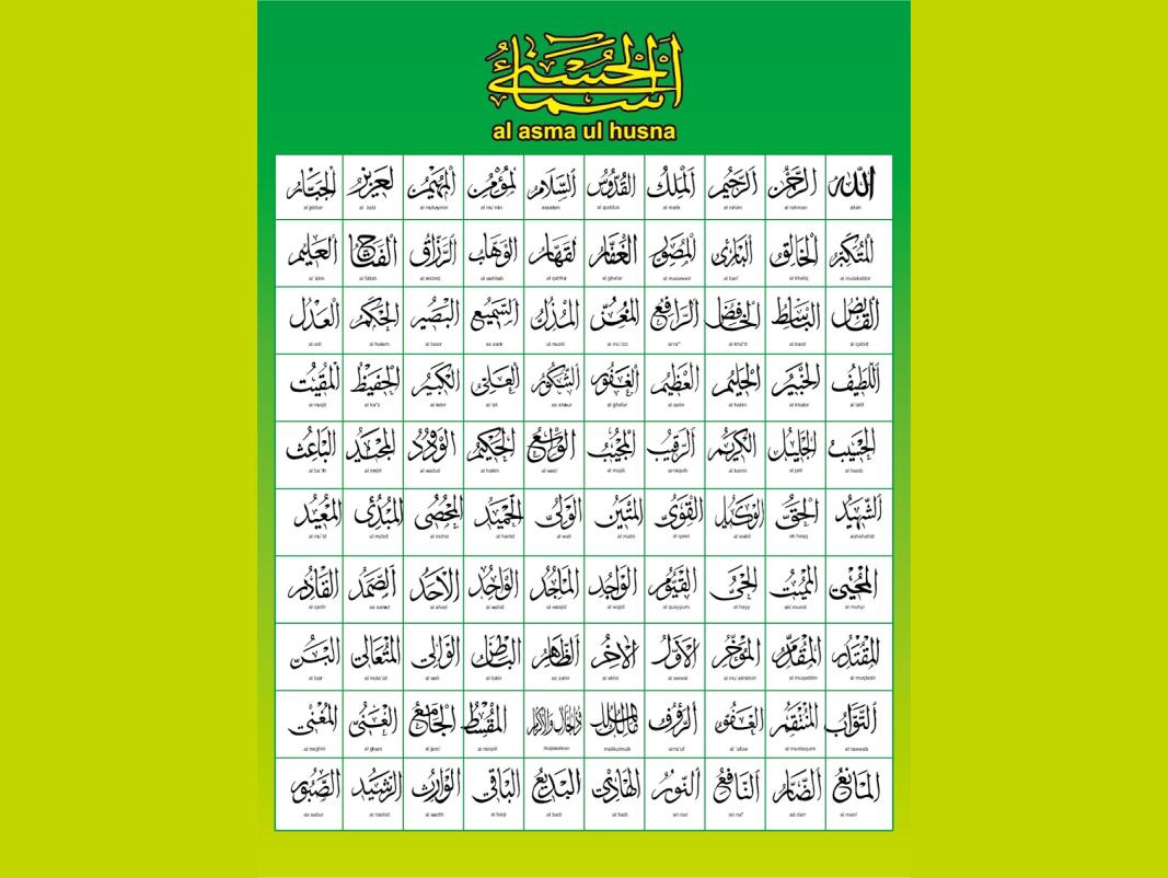 Keren Poster Asmaul Husna Dan Artinya Pdf Koleksi Poster