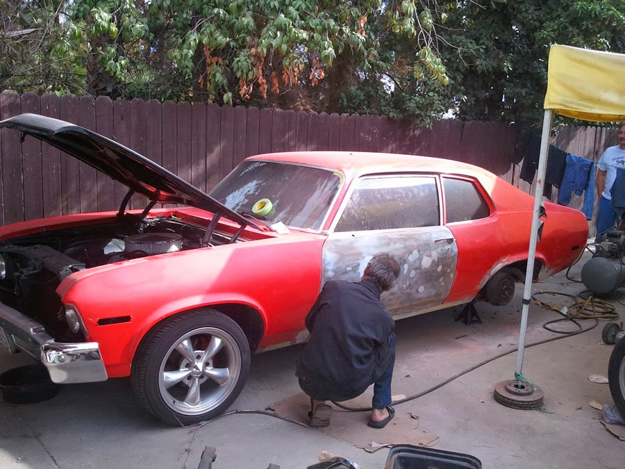 73 Nova Custom: Backyard Body and Paint in LA
