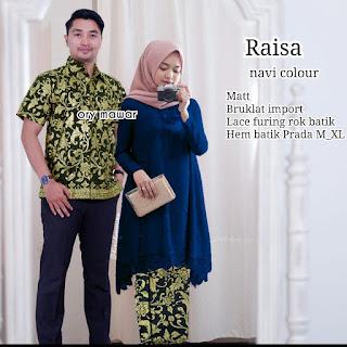 Batik Couple Batik Brokat Long Blouse Raisa